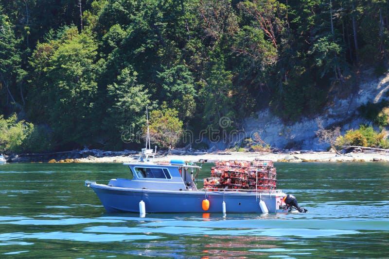 Шлюпка Crabbing стоковая фотография rf