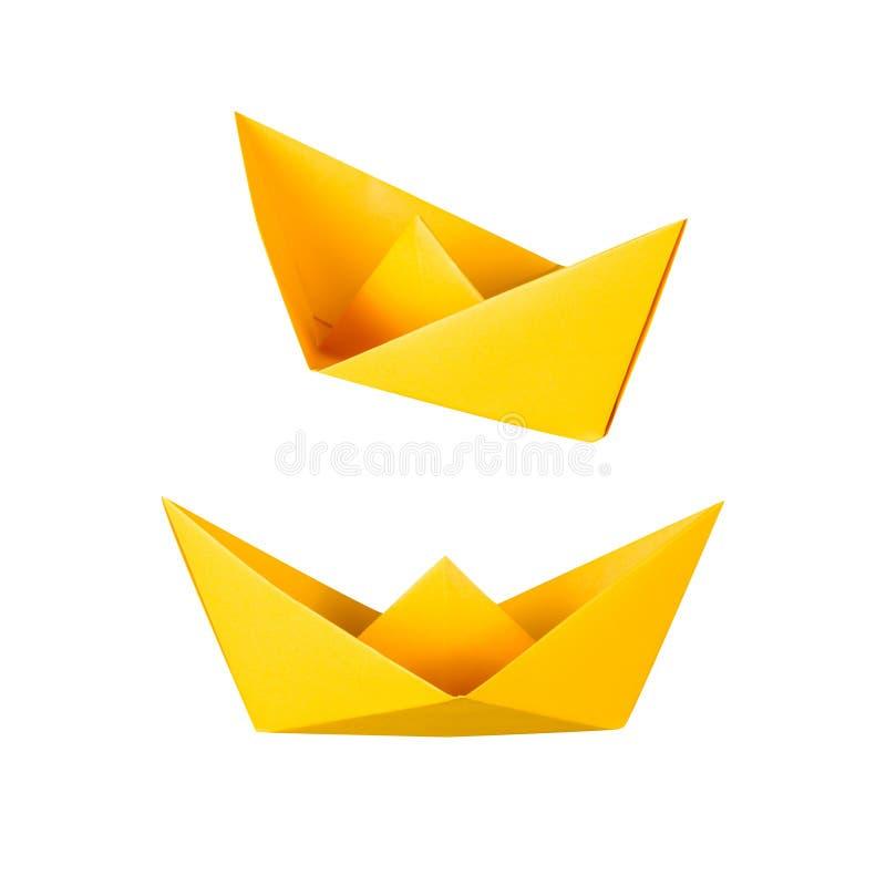 Шлюпка Origami или шлюпка бумаги стоковое изображение rf