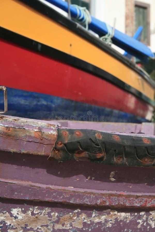 Шлюпки в Camara делают Lobos, Мадейру, Португалию стоковые изображения