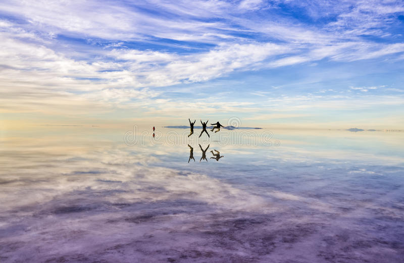 Шлямбуры на Uyuni стоковое фото