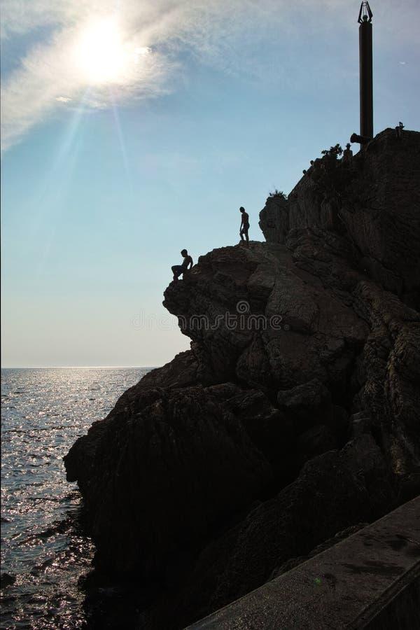 Шлямбуры скалы в Черногории стоковое фото