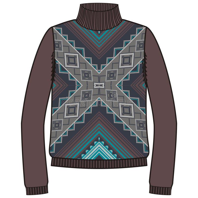 Шлямбур зимы теплый племенной для navajo коренного американца knit handmade, стиля фуфайки бесплатная иллюстрация