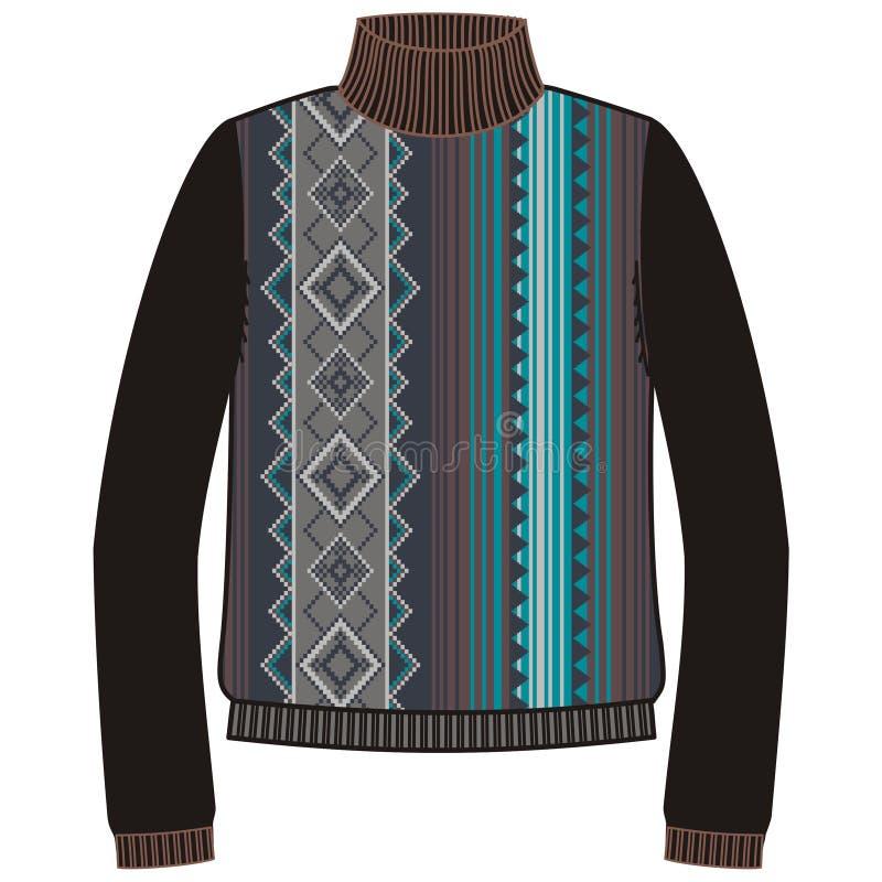 Шлямбур зимы теплый племенной для navajo коренного американца knit handmade, фуфайки бесплатная иллюстрация