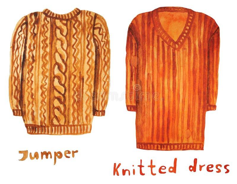шлямбур Связанное платье Иллюстрация растра иллюстрация штока