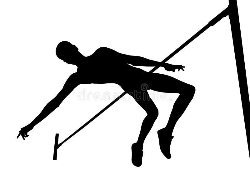 Шлямбур спортсмена высокого прыжка иллюстрация вектора