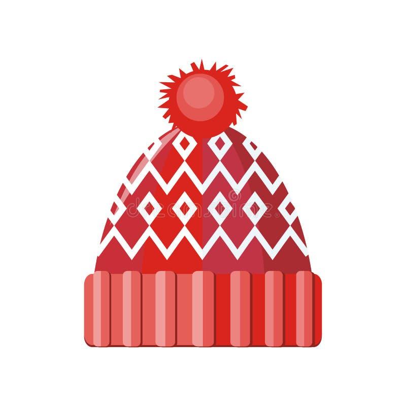 Шляпа зимы иллюстрация штока