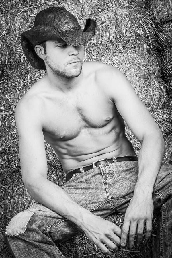 Шляпа ковбоя нося стоковые фото