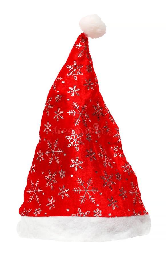 Шляпа красного цвета рождества Санта Клауса стоковое фото