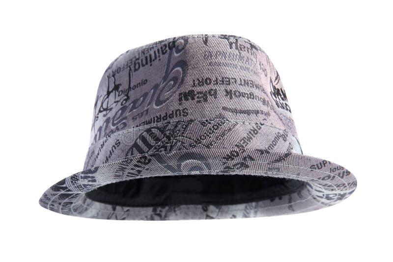 Шляпа моды Unisex серая  стоковые изображения