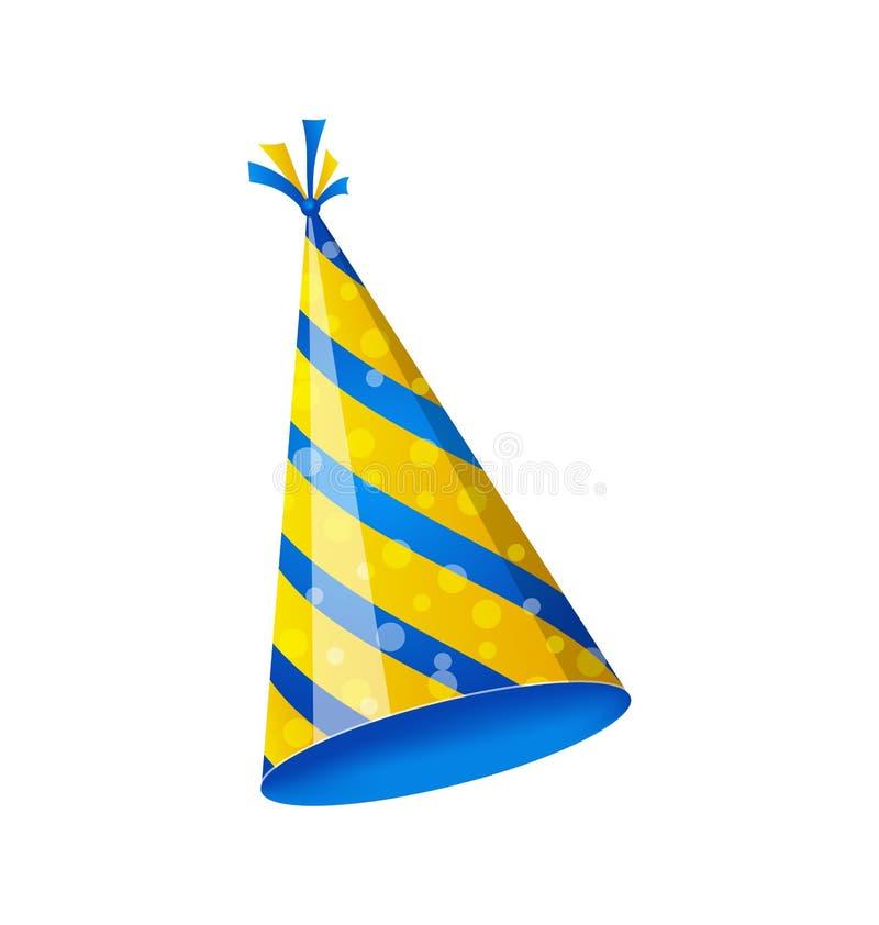 Шляпа дня рождения изолированная на белой предпосылке бесплатная иллюстрация