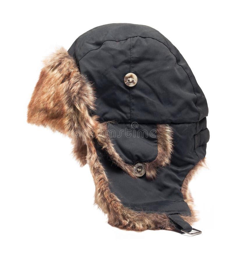 Шляпа при изолированные щитки уха стоковое изображение
