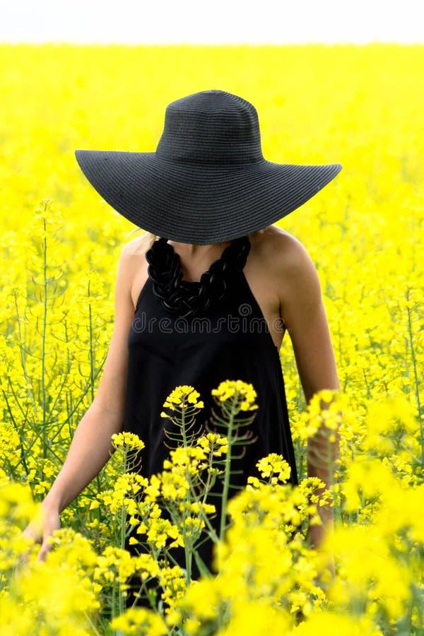 Шляпа совершенно скрывает сторону загадочного незнакомца стоковое фото rf