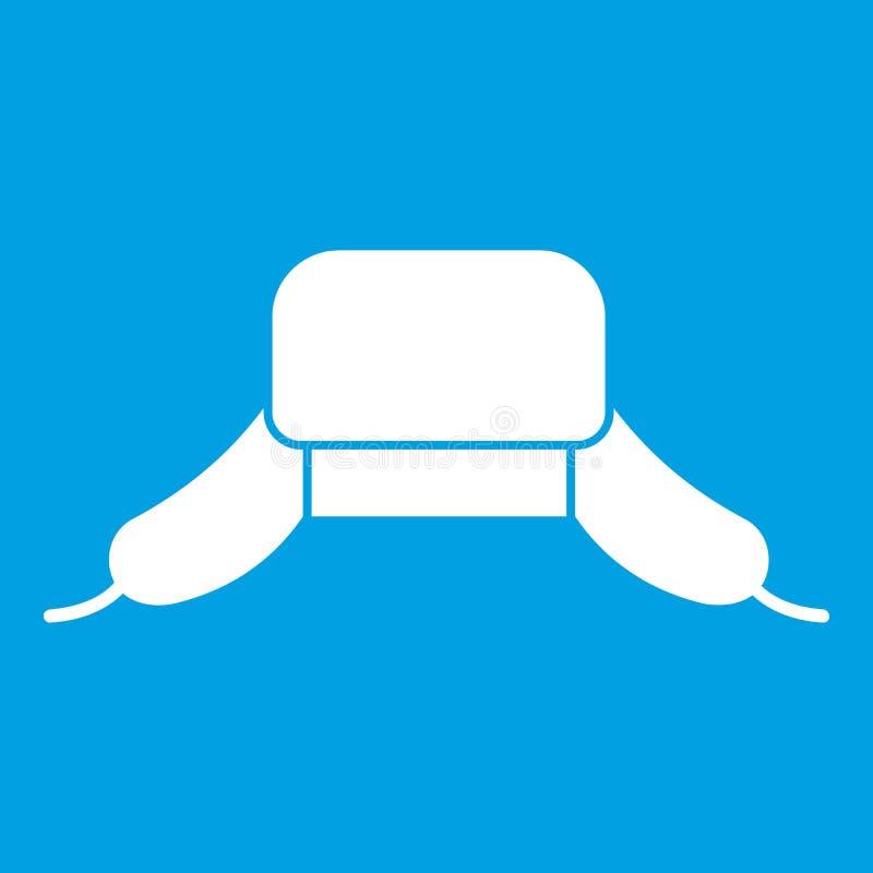 Шляпа с ухом хлопает белизну значка иллюстрация вектора
