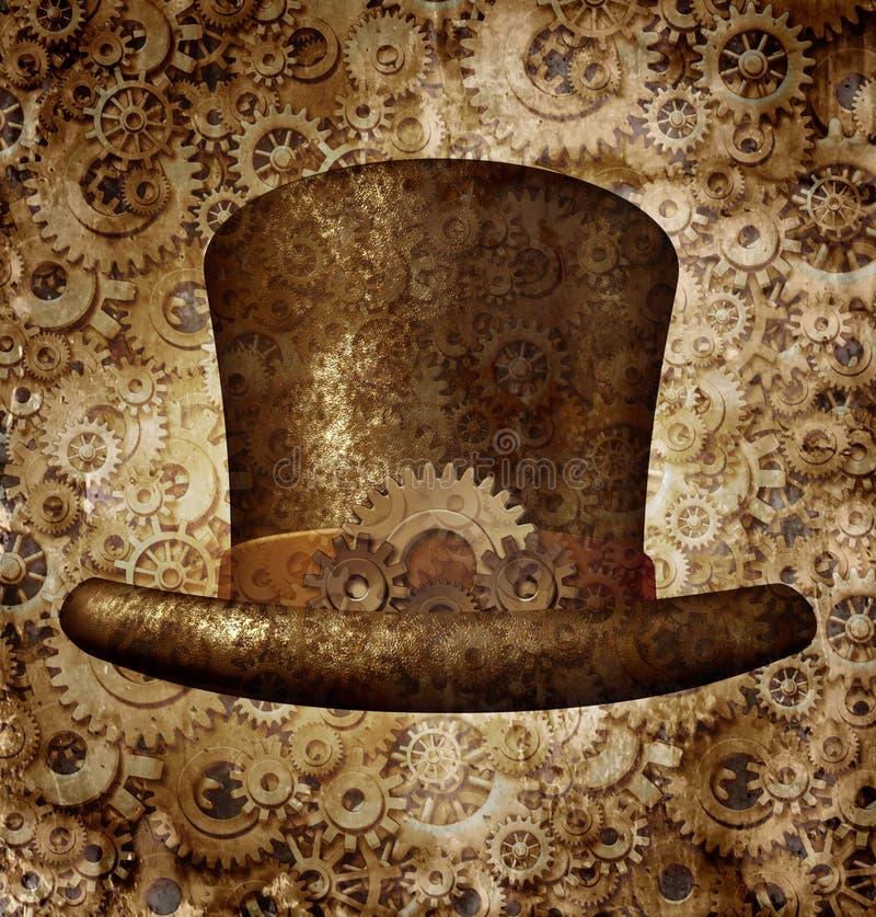 Шляпа Steampunk верхняя иллюстрация вектора