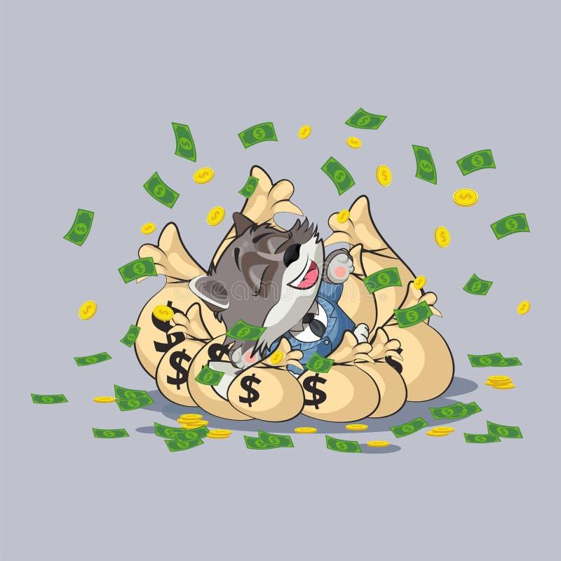 Волк с деньгами картинка