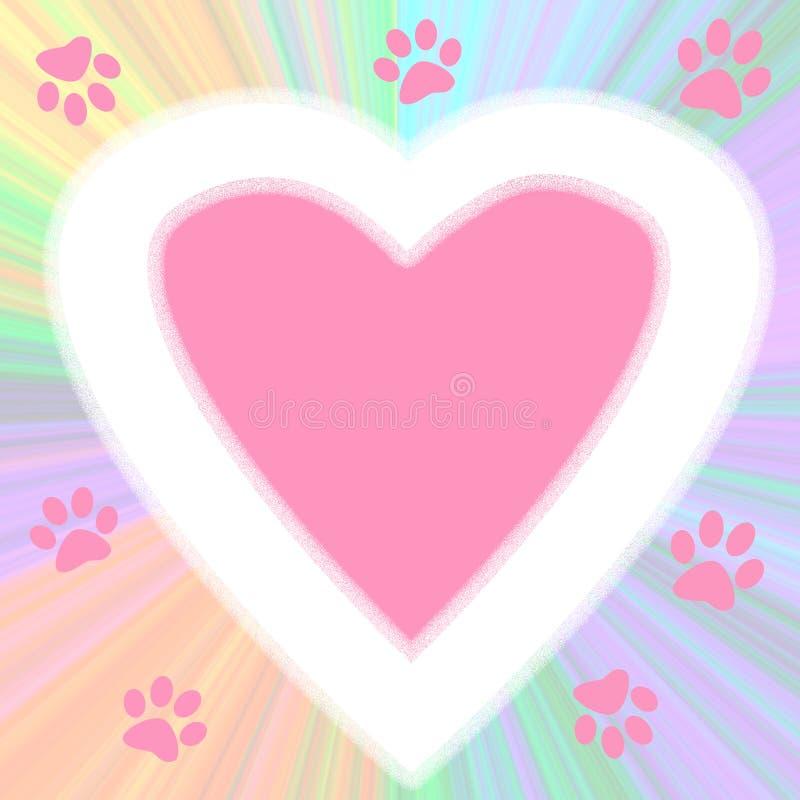 щенок плаката влюбленности иллюстрация штока