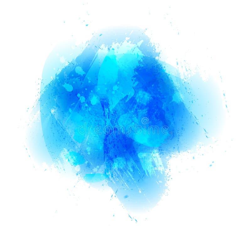 Щетка акварели штрихует, закрывает на белой предпосылке Акриловый str бесплатная иллюстрация