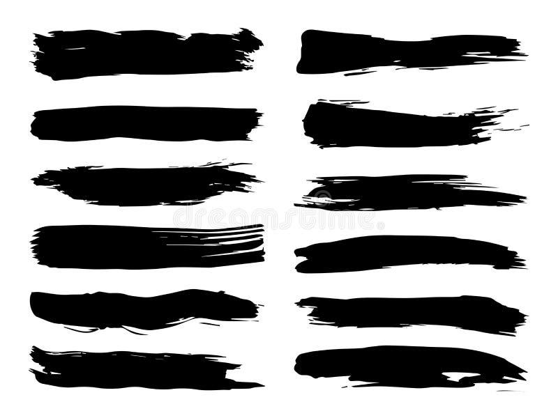 Щетка художественной grungy черной краски ручной работы творческая бесплатная иллюстрация