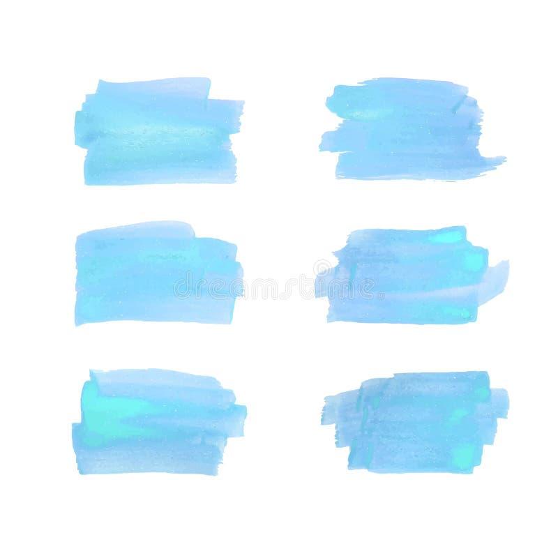 Щетка штрихует собрание также вектор иллюстрации притяжки corel Покрашенные рукой ходы щетки grunge покрасьте акварель ходов крас иллюстрация штока