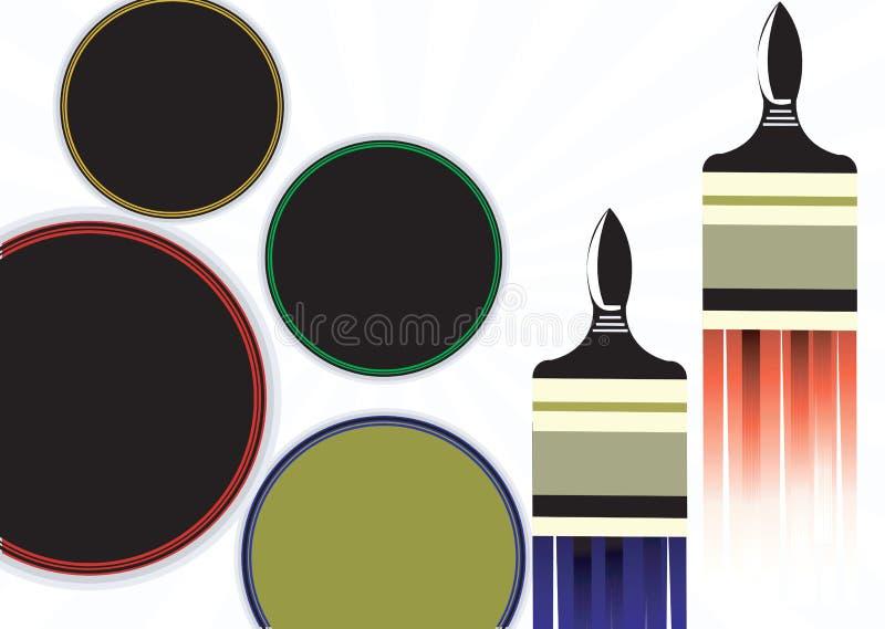 Щетки краски бесплатная иллюстрация