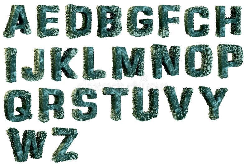 Щипцы на письмах алфавита стоковые фотографии rf