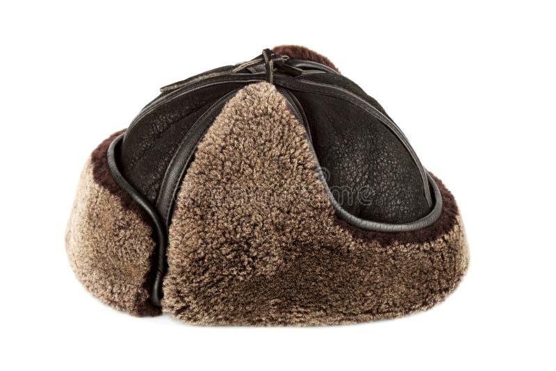 Щитки уха шлема зимы стоковое фото