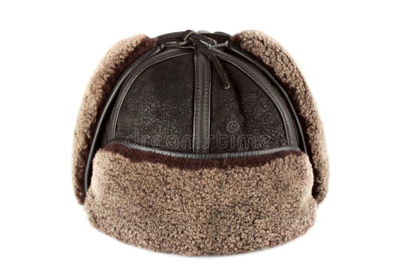 Щитки уха шлема зимы стоковое фото rf