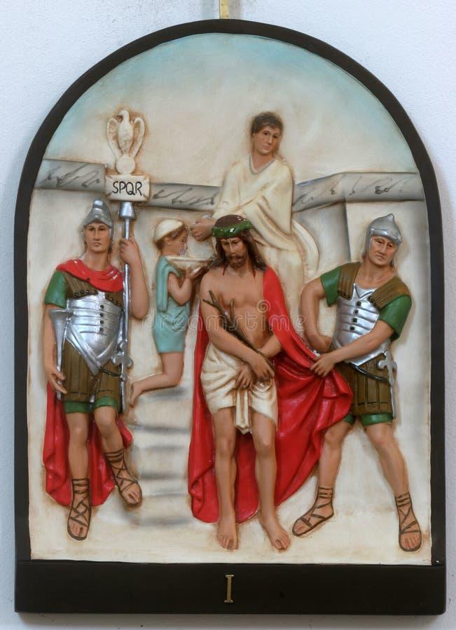 1-ые засуженные перекрестные станции jesus смерти к стоковая фотография rf