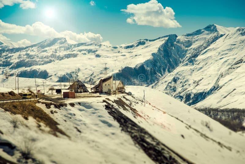 лыжа курорта gudauri стоковые изображения rf