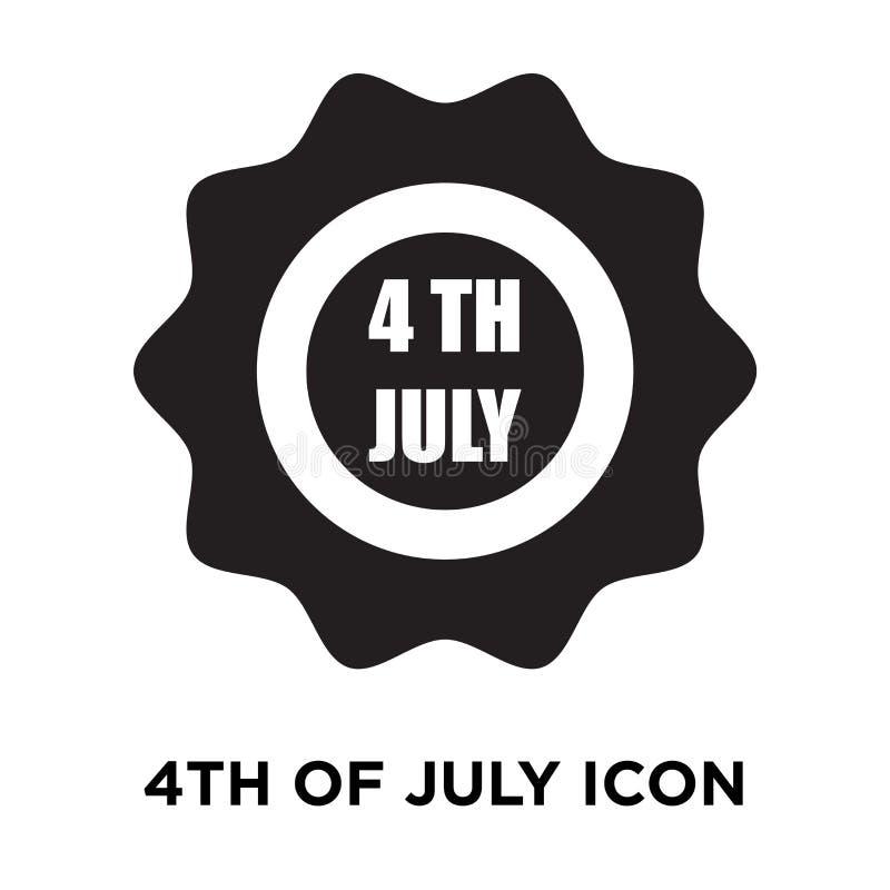 4-ый из вектора значка в июле изолированного на белой предпосылке, conce логотипа бесплатная иллюстрация