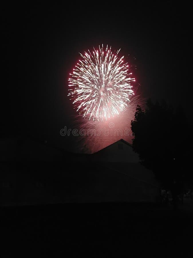 4-ый из фейерверков в июле стоковое изображение