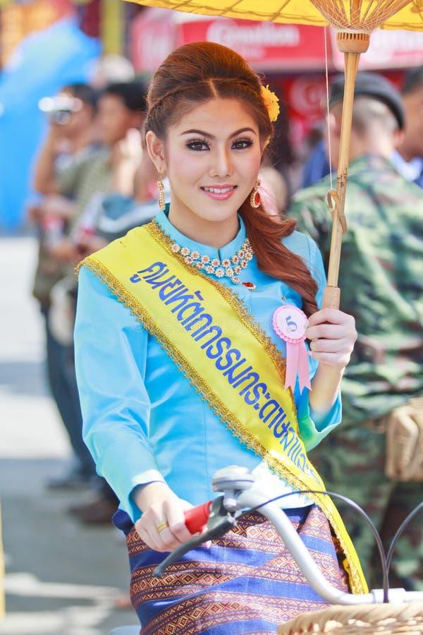 30-ый фестиваль зонтика Bosang годовщины в провинции Chiangmai Таиланда стоковое фото rf