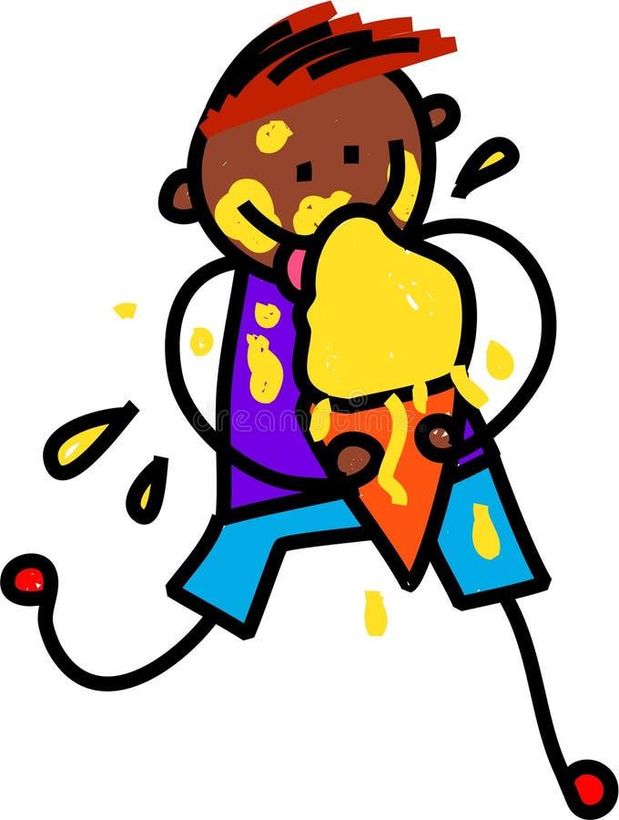льдед мальчика cream счастливый иллюстрация вектора