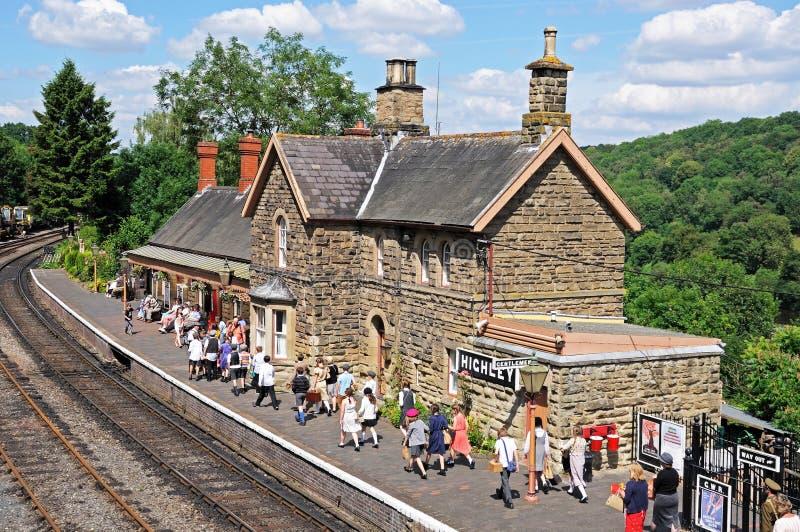 Эвакуированные Второй Мировой Войны, железнодорожный вокзал Highley стоковое изображение