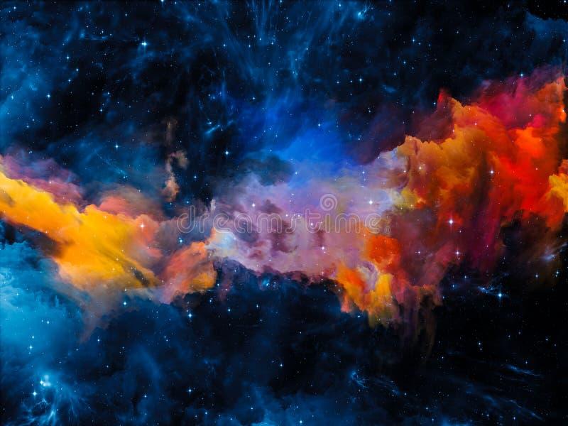 Эволюционируя межзвёздное облако бесплатная иллюстрация