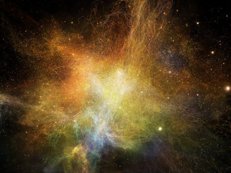 Эволюционируя межзвёздные облака фрактали бесплатная иллюстрация