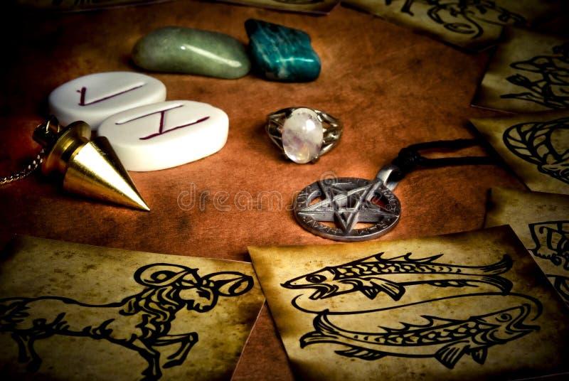 эзотерические инструменты стоковые изображения rf