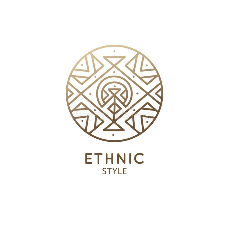 Эзотерический геометрический логотип бесплатная иллюстрация