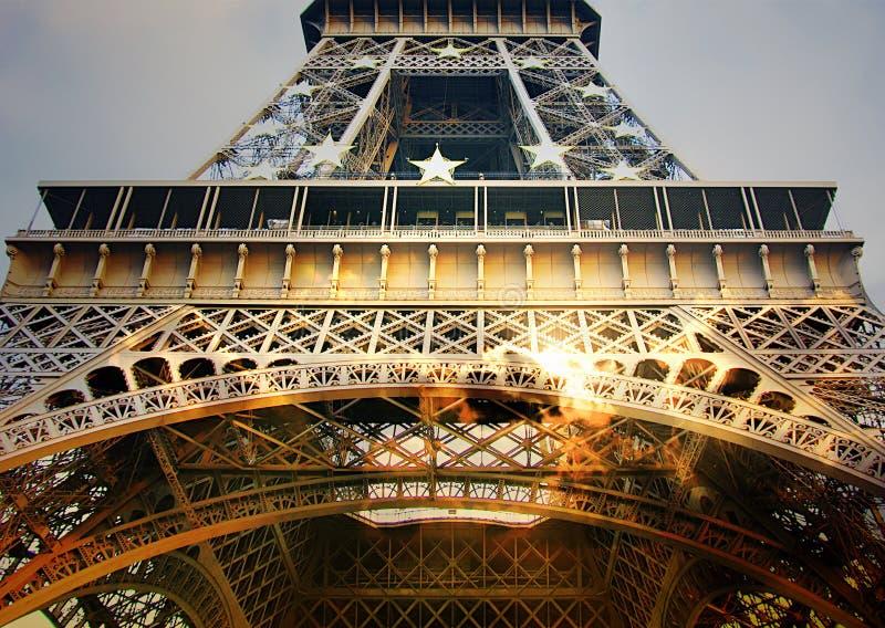 Эйфелева башня крупного плана стоковое фото rf