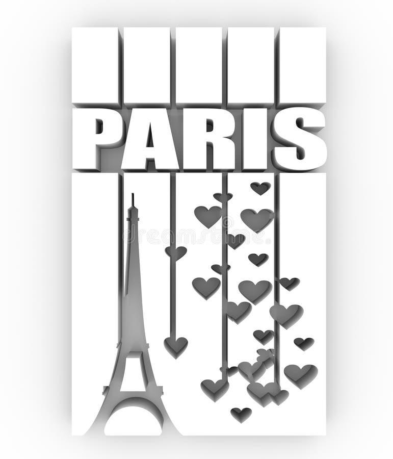 Эйфелева башня Текст Парижа бесплатная иллюстрация