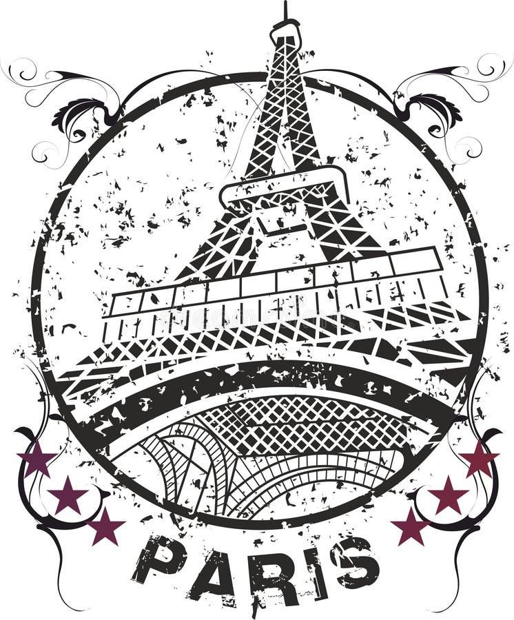 Эйфелева башня иллюстрация штока