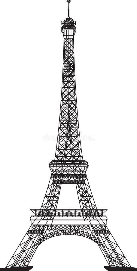 Эйфелева башня иллюстрация вектора