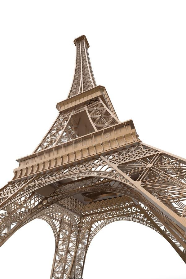 Эйфелеваа башня изолированная на белой предпосылке иллюстрация штока