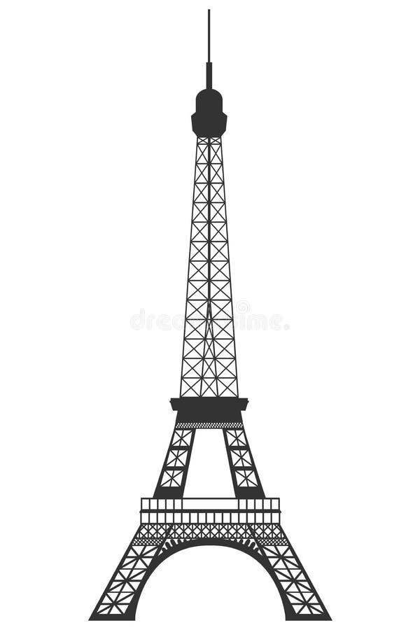 Эйфелева башня Изолированный предмет на белой предпосылке иллюстрация штока