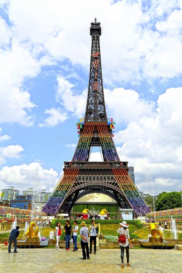 Эйфелева башня на окне мира, Шэньчжэне, фарфоре стоковые изображения rf