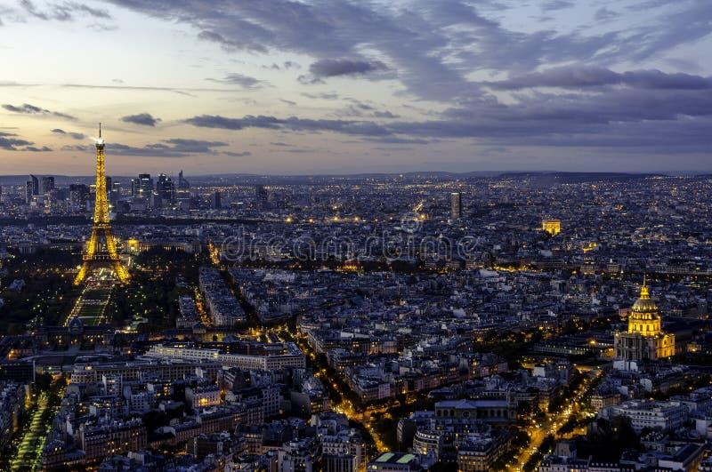 Эйфелева башня, Триумфальная Арка и Invalides. Париж. стоковая фотография rf