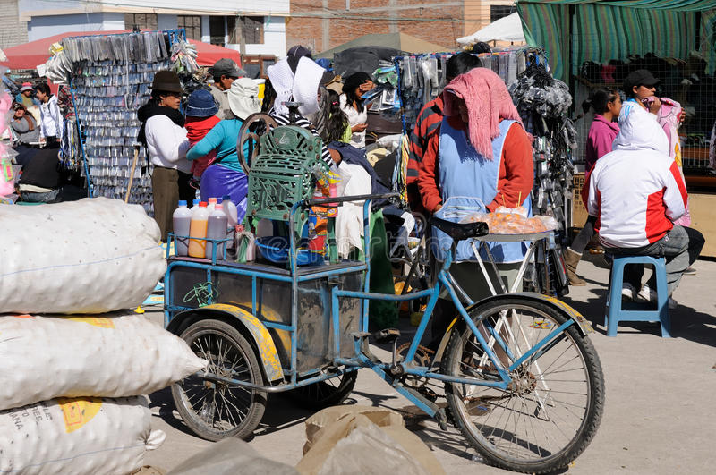 Эквадорский продавец мороженого стоковые фото