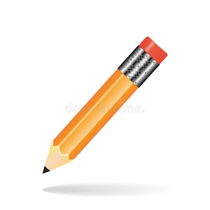 Экзамен исследования работы карандаша значка иллюстрация вектора