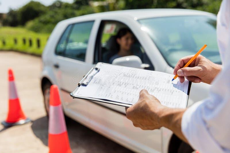 Экзамен по вождению стоковые изображения rf