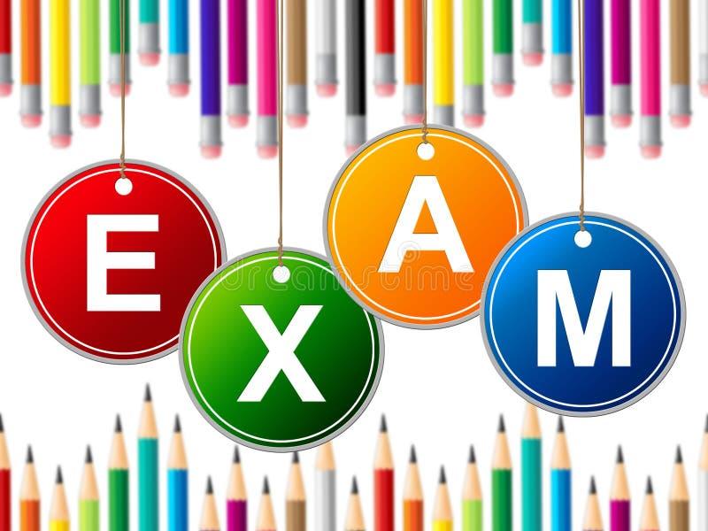 Экзамен ягнится экзамены и испытание молодости середин иллюстрация вектора